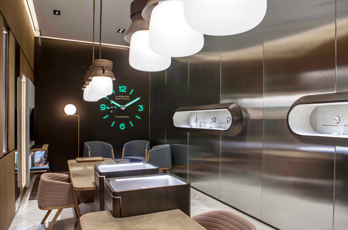 officine panerai has opened its first mono brand boutique in south