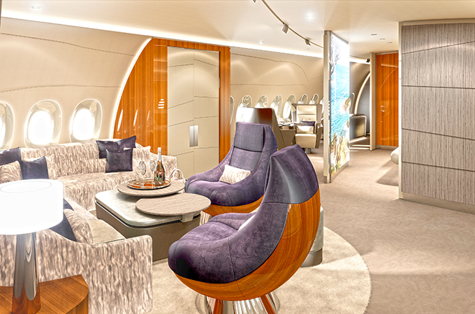 Welcome Home ... The A350 VIP Cabin Concept Is A Fresh New Approach To  Interior Design.