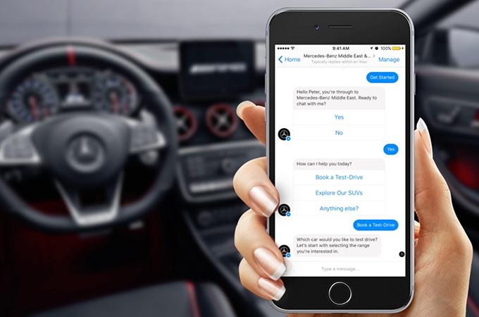 Mercedes benz goes live on facebook messenger motoring for Mercedes benz chat