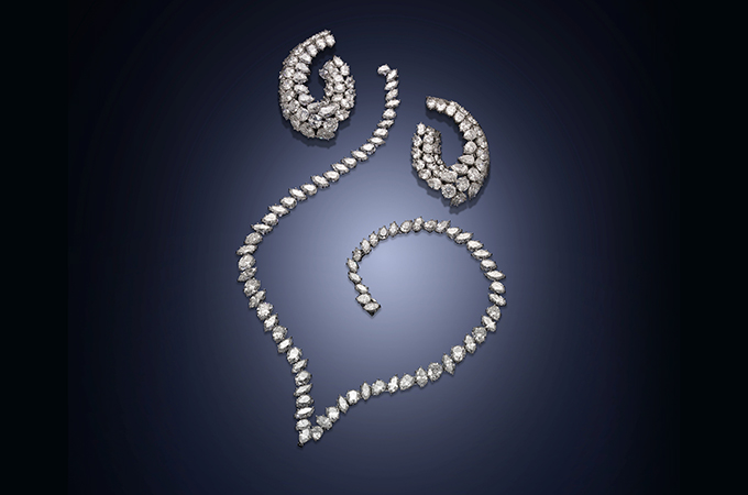 The Harry Winston Diamond Earclips Sold For 105 000