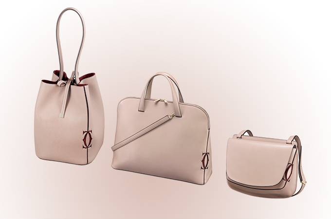The Must C Bags Are Available In Burgundy And Grey Quartz Calfskin
